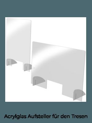 Acrylglas Aufsteller für den Tresen
